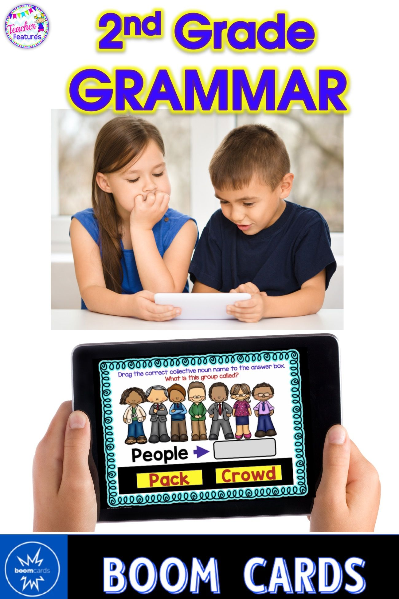 2nd Grade Boom Cards 2nd Grade Grammar Amp Reading Bundle