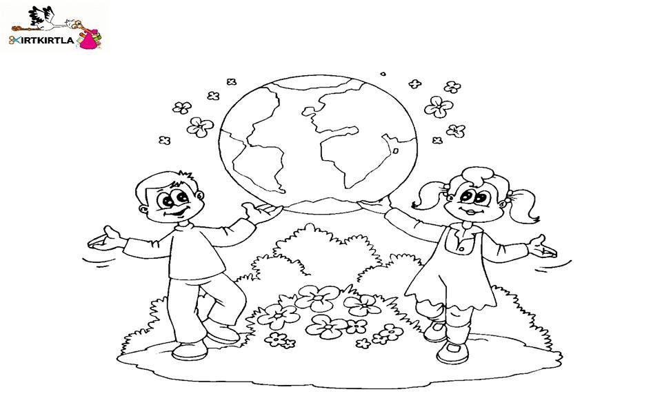 Mutlu Dunya Degerler Egitimi Sorumluluk Kirtkirtla Boyama Sayfalari Aplike Sablonlari Nisan