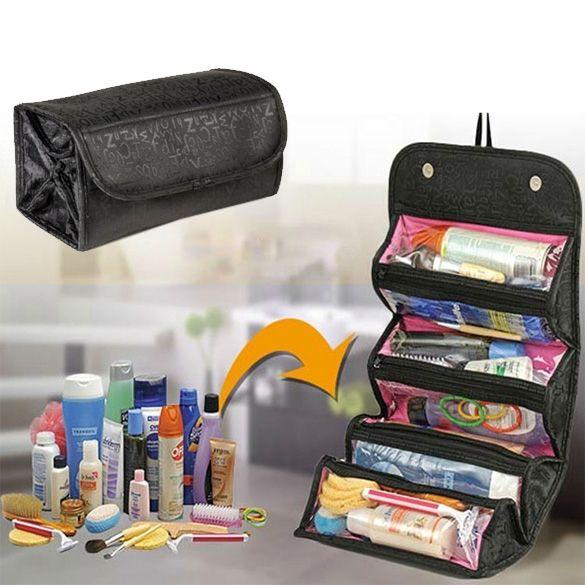 Косметический макияж сумка женщин мода сумку туалетные принадлежности висит организатор путешествий