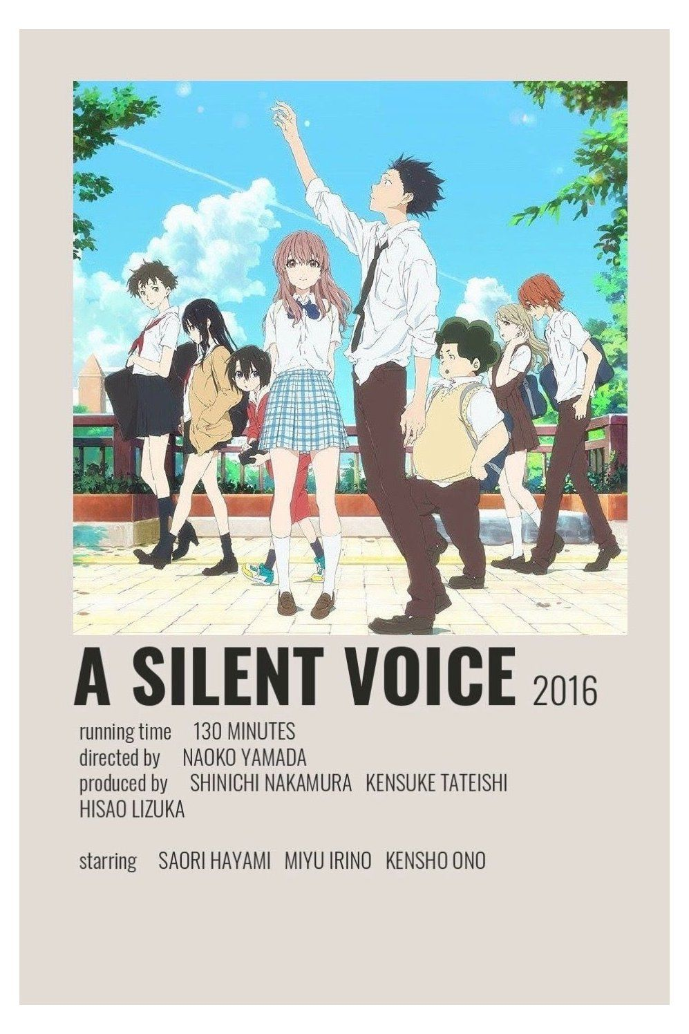 alternative movie posters anime