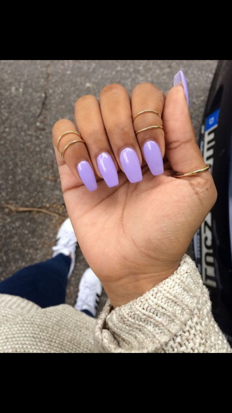 Jolifin Bloomy Lavender Lavender Nails Purple Acrylic Nails Short Acrylic Nails
