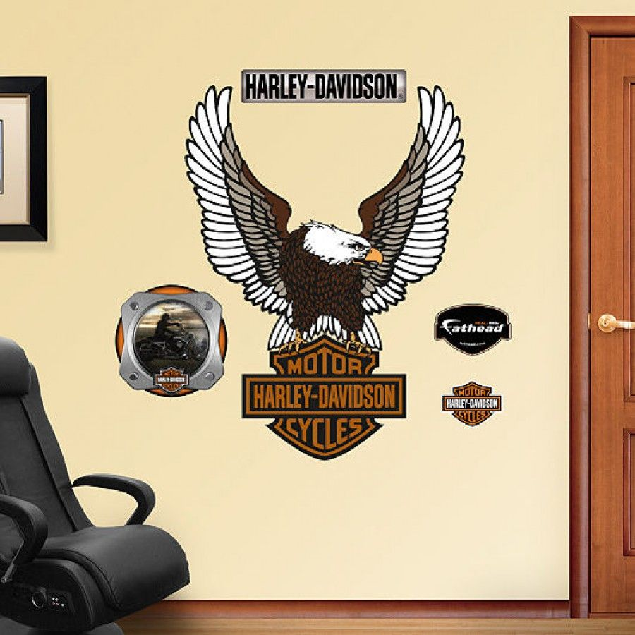 fathead harley davidson logo wall graphic 16 00001 wall put your passion on display with a giant marcedes lewis fathead wall decal