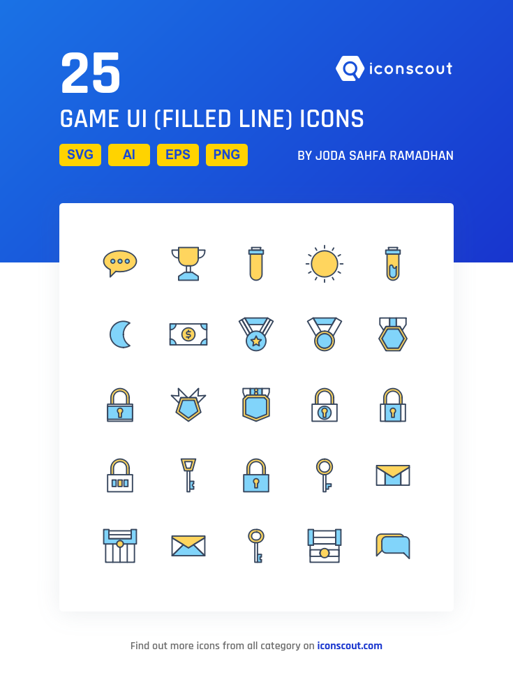 Game UI Filled Line Icon Pack Filled Outline Icons User - Game outline