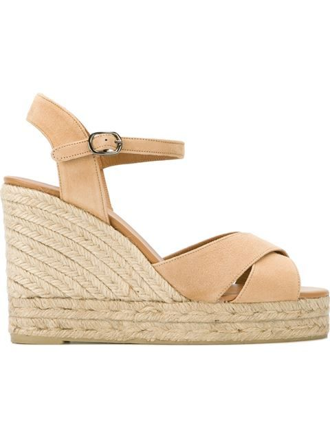 cf9ca340821 CASTAÑER Sling Back Straw Effect Wedge Sandals.  castañer  shoes  sandals