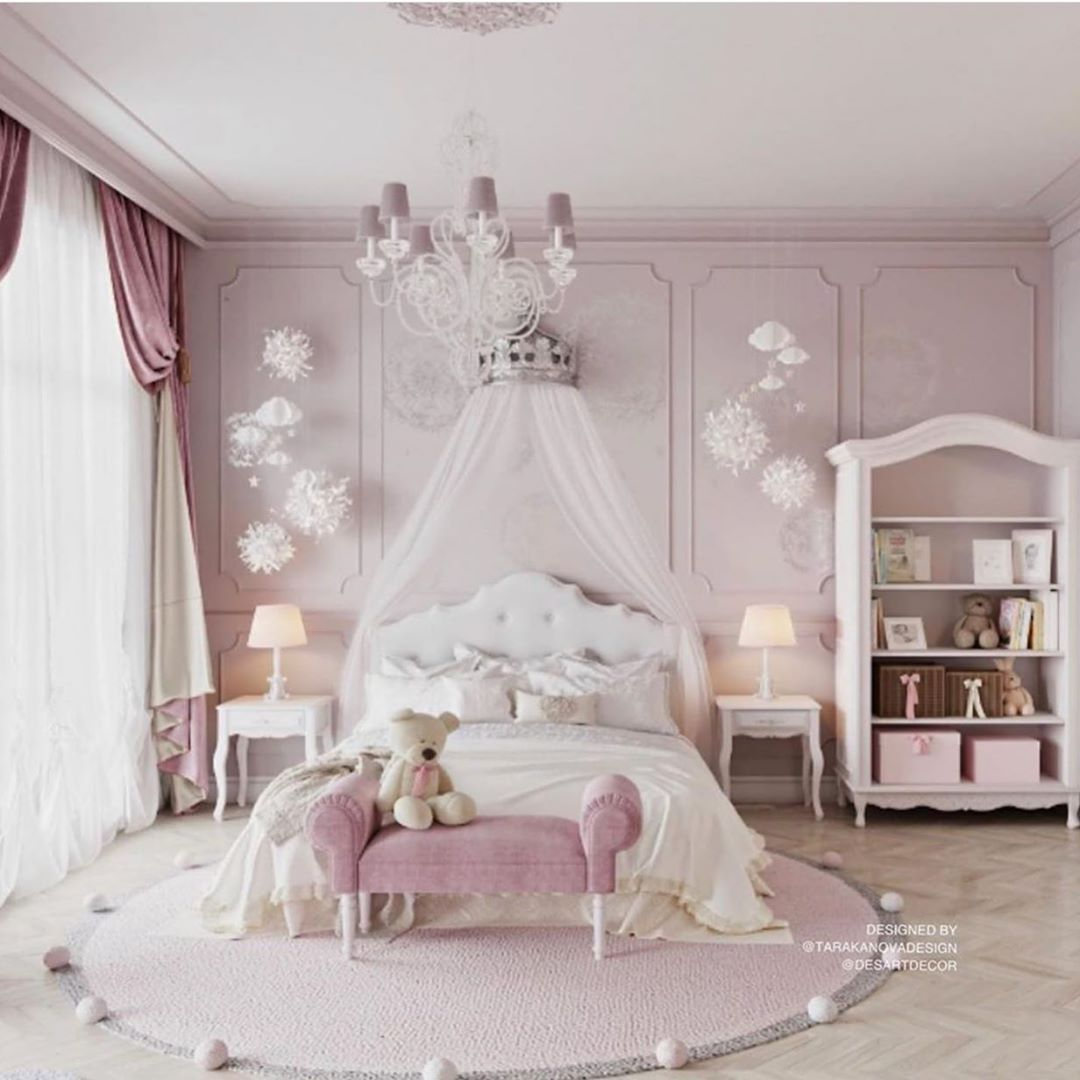 What A Gorgeous Girly Girl Bedroom Just Perfect For A Special Little Princess Girl Bedroom Decor Luxury Kids Bedroom Toddler Princess Room Girls luxury room pictures