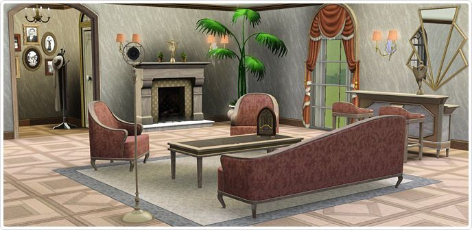 Jazz age living room store the sims 3 sims 3 sets for Jazz living room ideas