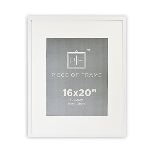 Golden State Art 16x20 White Photo Frame With Ivory Color Mat For 11x14 Pictures Real Glass Click I White Photo Frames Tabletop Picture Frames Photo Frame