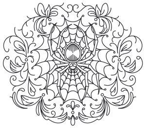 Gothic Gala - Spiderweb design (UTH7016) from UrbanThreads.com