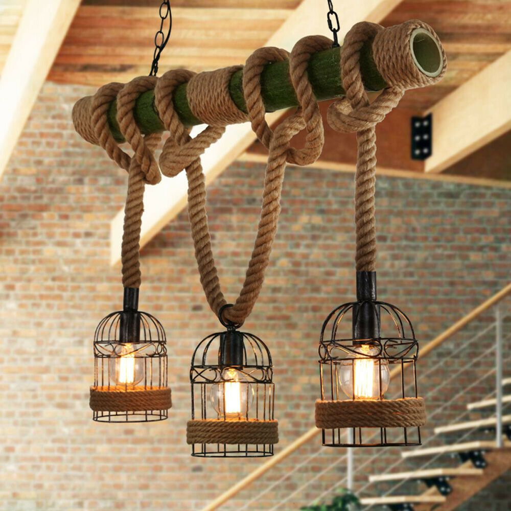 3 Armige Industriele Hanglamp Touw Lamp Industriele Hanglampen Hanglamp
