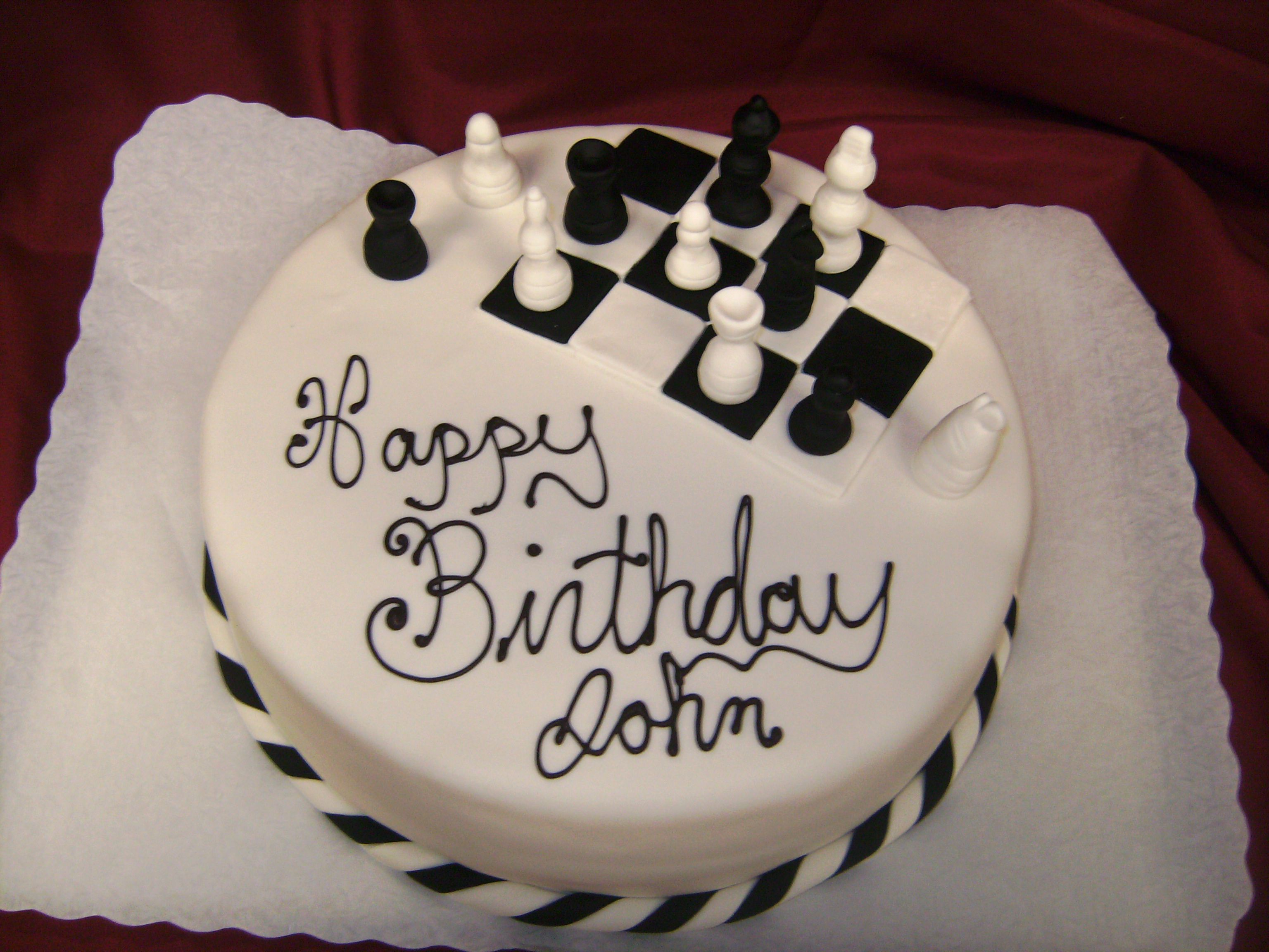Birthday Cake Pieces Images ~ Chess board cake custom cakes pinterest and
