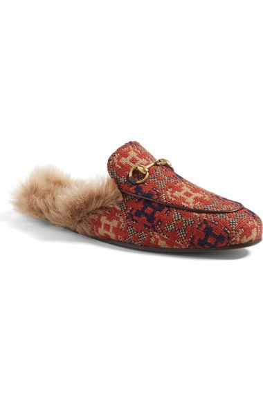59a603a8fd88 Gucci  Princetown  Genuine Lamb Fur Lined Loafer (Men) available at   Nordstrom
