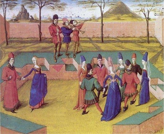 r. Miniature extraite du Roman de la rose de Jean Meung. vers 1460