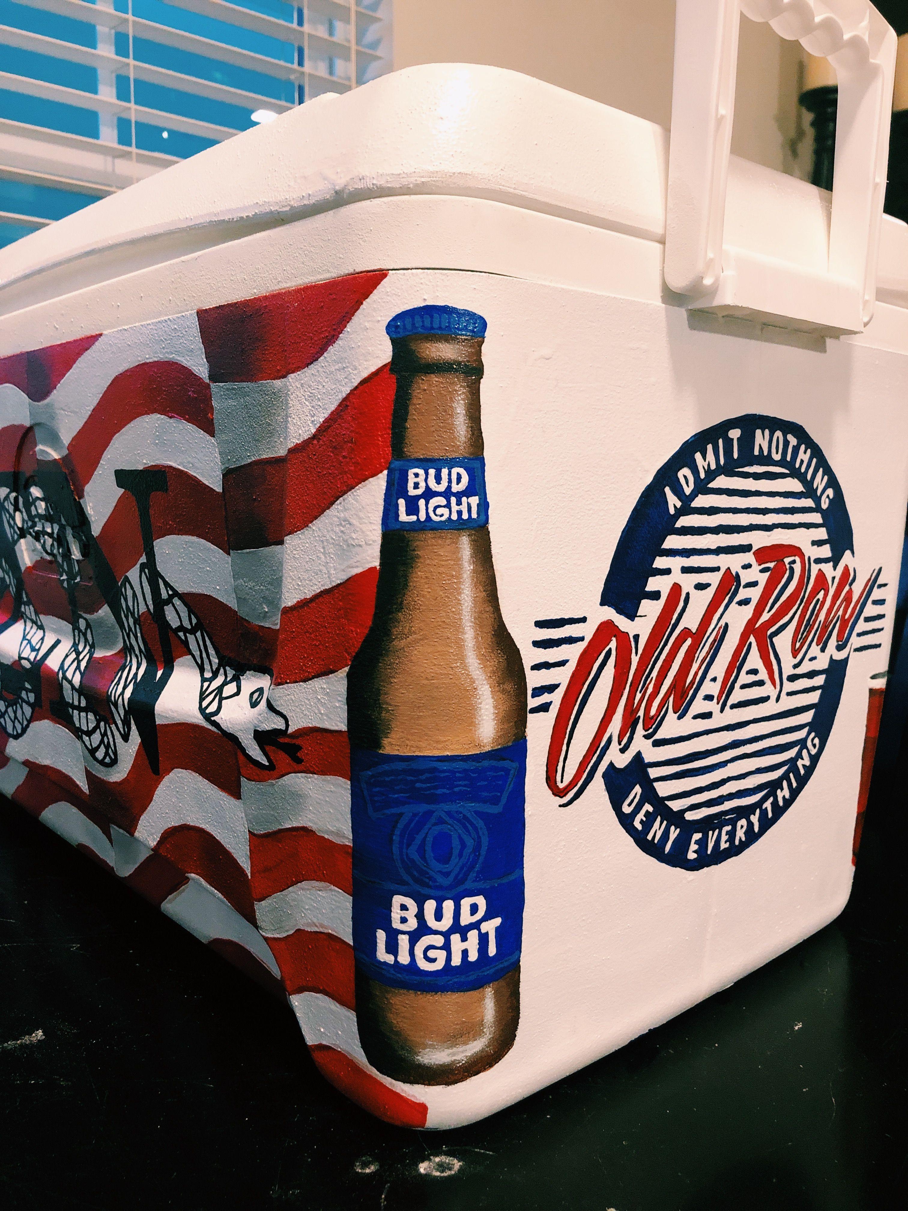 Fraternity Formal Cooler Bud Light Beer Formal Cooler Ideas Fraternity Coolers Painted Fraternity Coolers