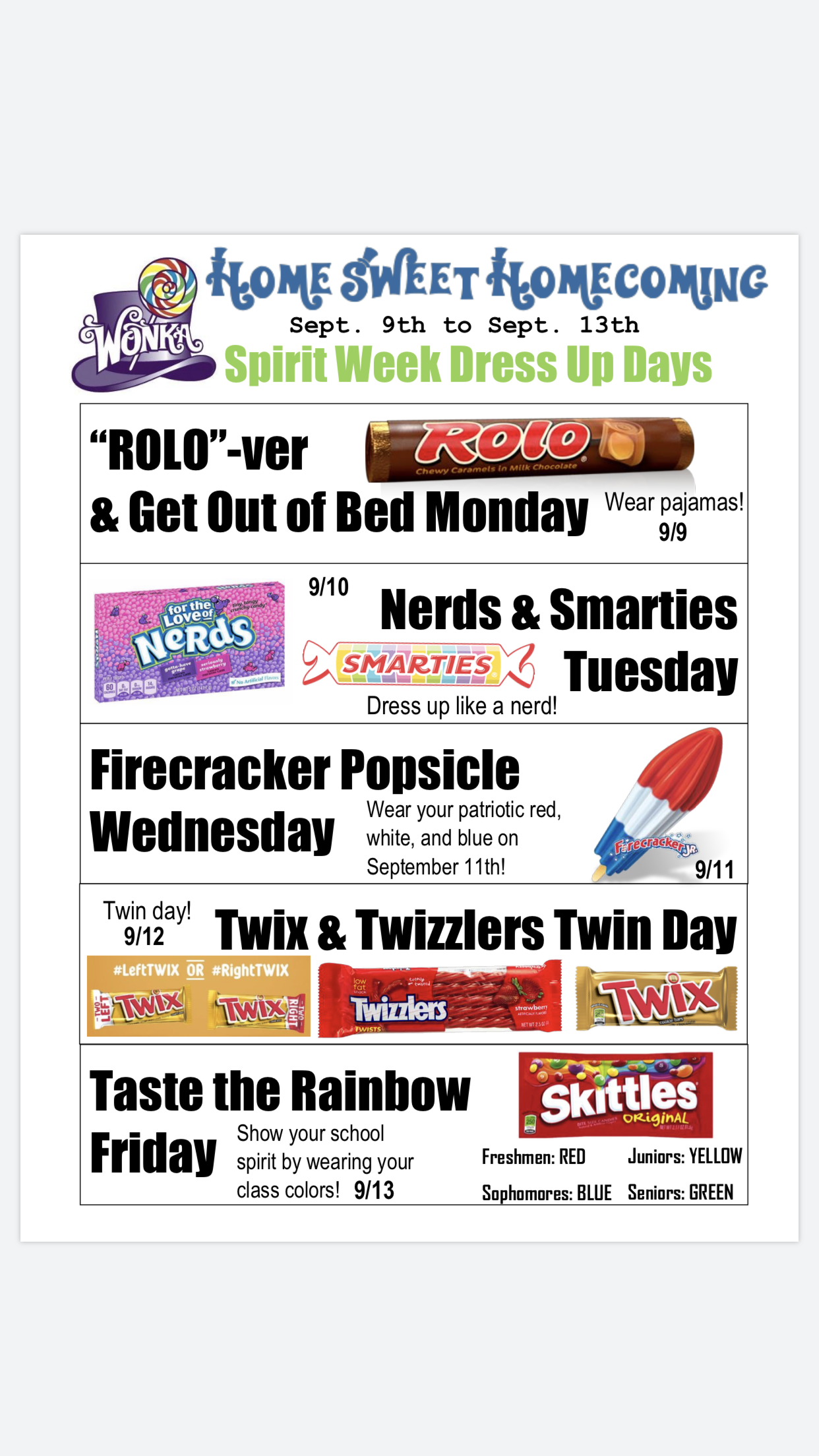 Home Sweet Homecoming Dress Up Days School Spirit Week School Spirit Days Homecoming Spirit Week