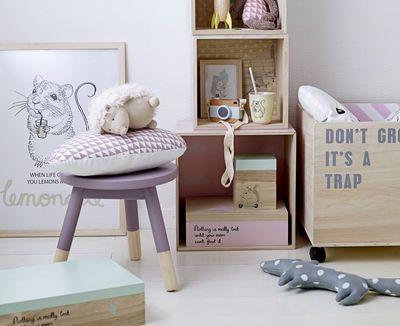 Schachtel / Holz   Set Aus 2 Quadratischen Boxen, Rosa Mit Roten Punkten /  Holz Natur Von Bloomingville Finden Sie Bei Made In Design, Ihrem Online  Shop Für ...