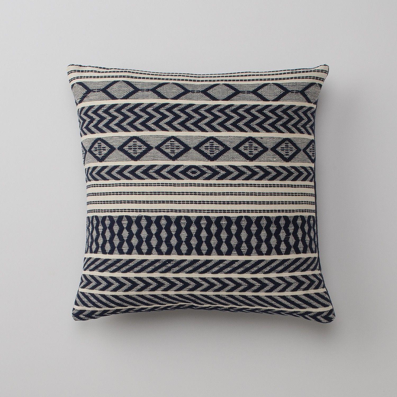 Handwoven Mayan Throw Pillow Navy Navy Throw Pillows Throw Pillows Hand Woven Pillows