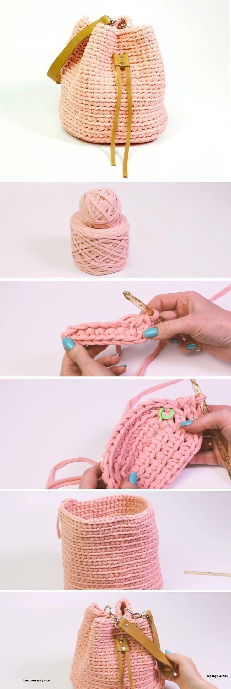 Crochet Backpack Häkeln Pinterest Häkeln Tasche Häkeln Und