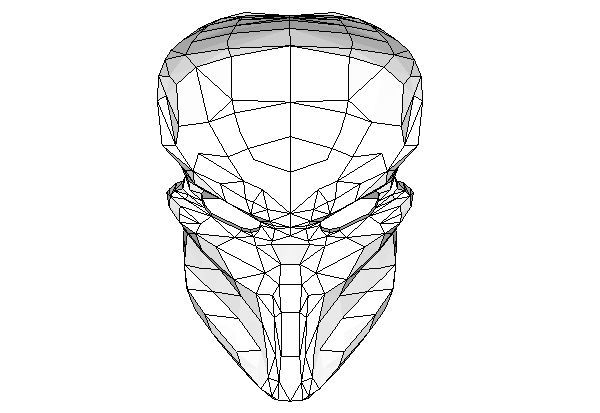 A Predator Mask Papercraft Free Template Download