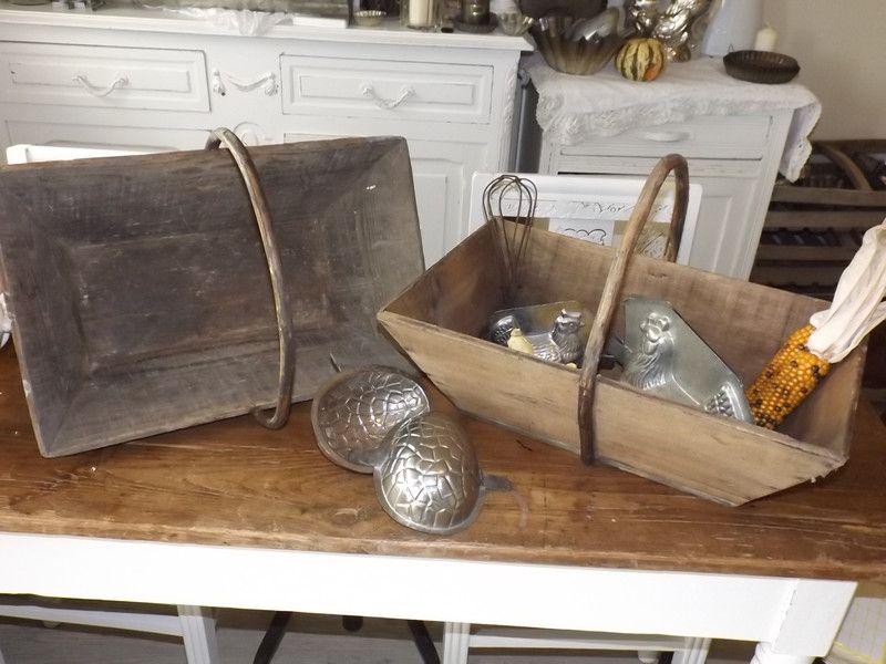 Alte Erntekörbe aus Frankreich, Deko, Shabby von Maison de Brocante ...