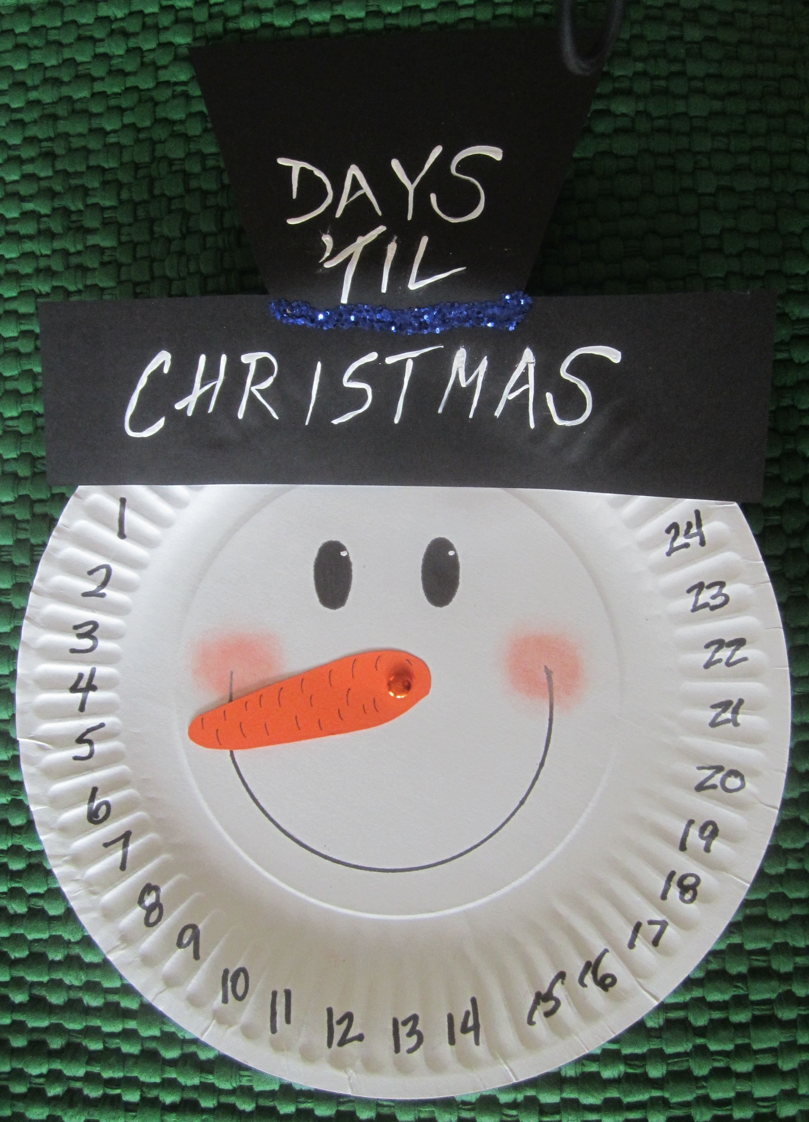 Snowman Crafts With Paper Plates