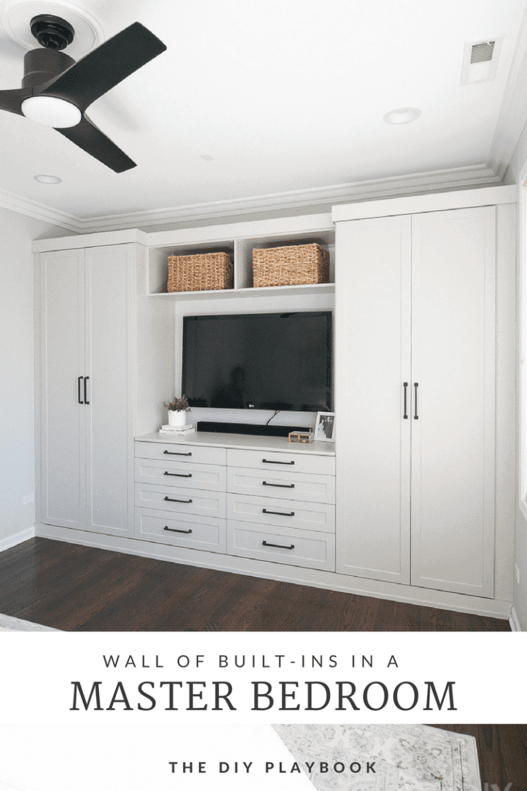 Master Bedroom Built-Ins with Storage