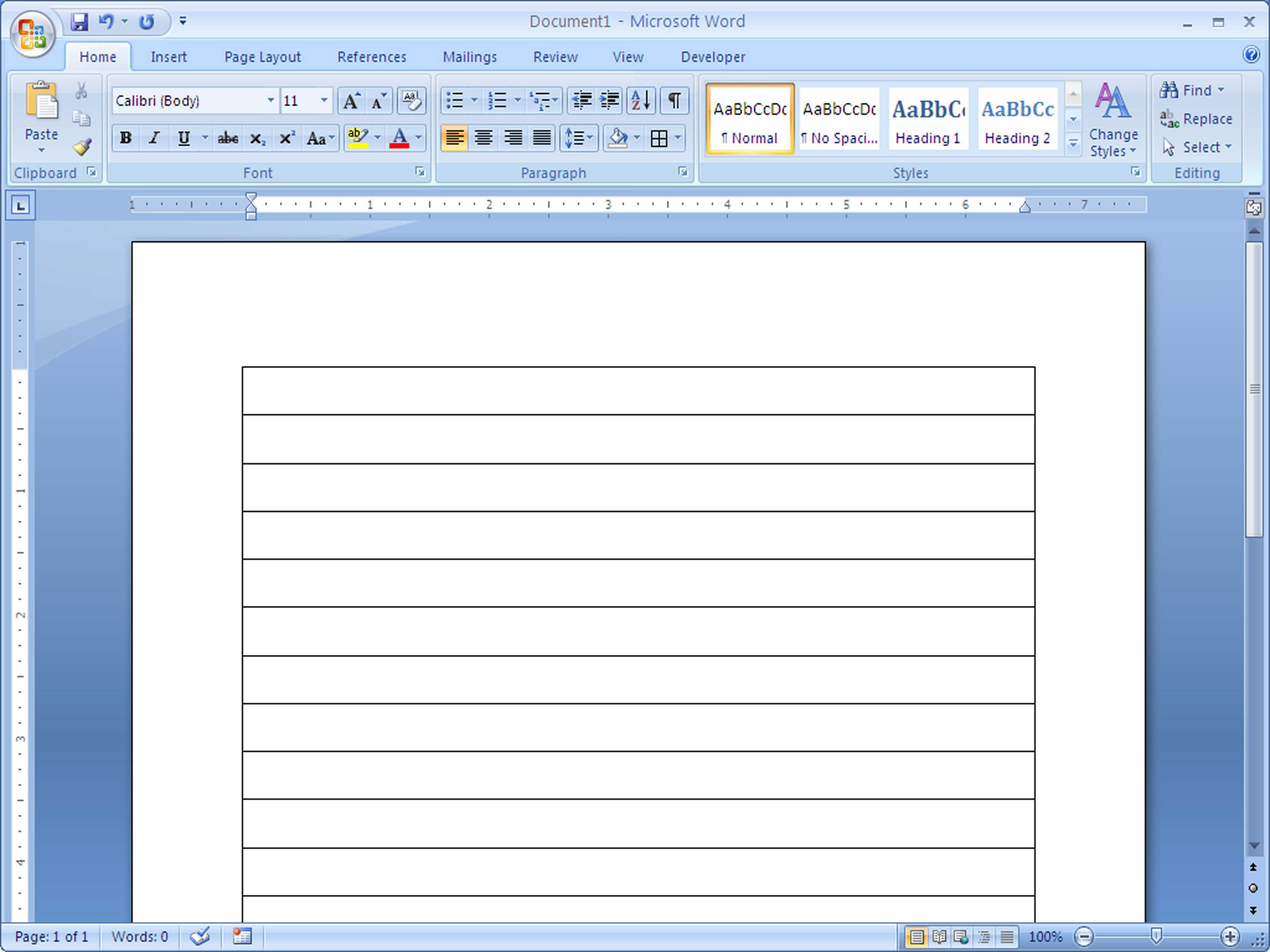 how to make lined paper in word 2007  4 steps  with
