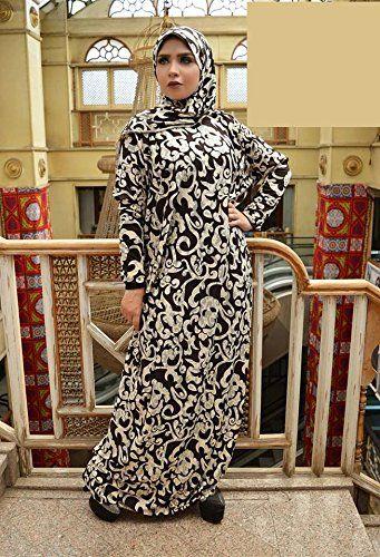 35 Muslim Islamic Galabeya Isdal Kaftan Gilbab Prayers Esdal Dress Abaya Prayer Set Manar Black At Amazon Women S Clothing Dresses Abaya Dress Clothes
