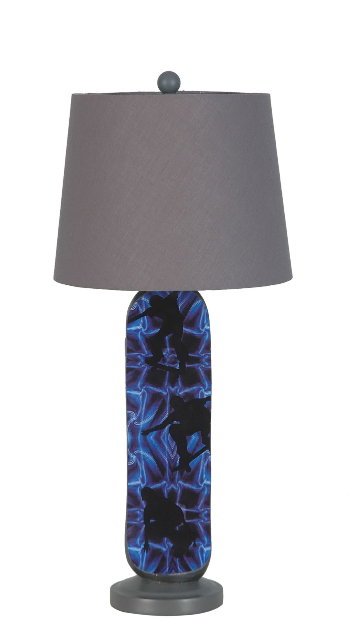 LPS 137: Polyresin Blue Skateboard Lamp By Lamps Per Se