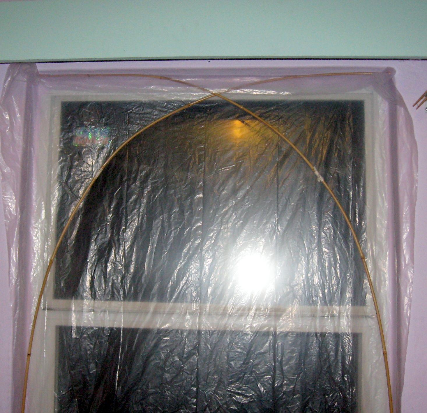 Hang Plastic Film Over Windows Without Tape Plastic Curtains Plastic Film Plastic Windows