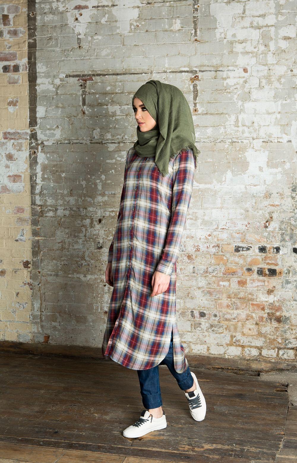 Chequered Shirt Dress | Aab