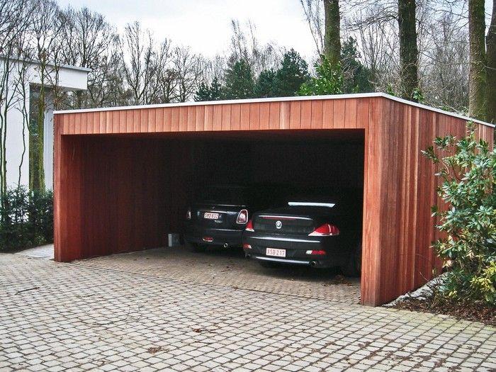 Moderne Carports Hout Garages Hout Hardhout Padouck