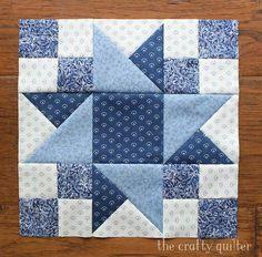 Vintage Sampler Quilt Block von Julie Cefalu gemacht. Entworfen von Barbara Eikmeier #starquiltblocks