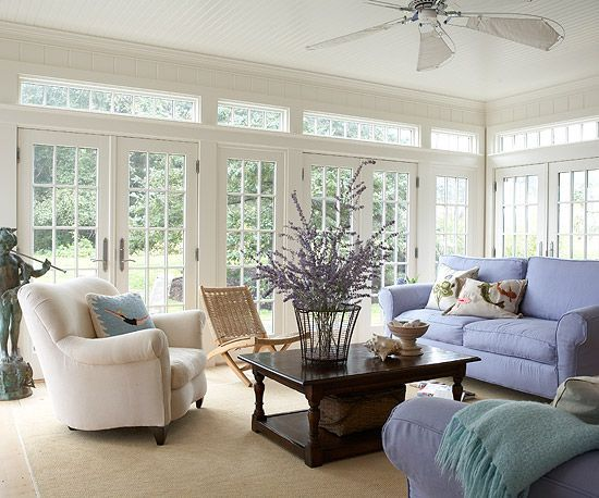 Beautiful sunroom with multiple french doors sunrooms for Large windows for sunroom
