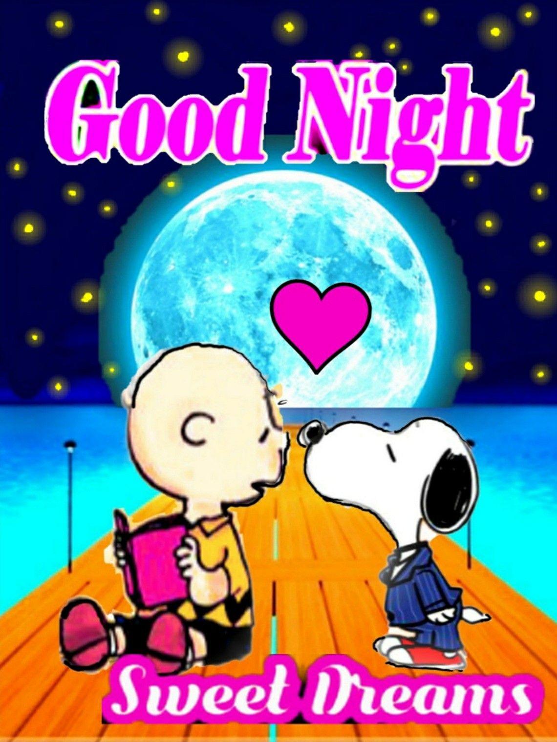 スヌーピーgood-night() | Good night greetings, Good night sweet dreams, Good  night sleep tight