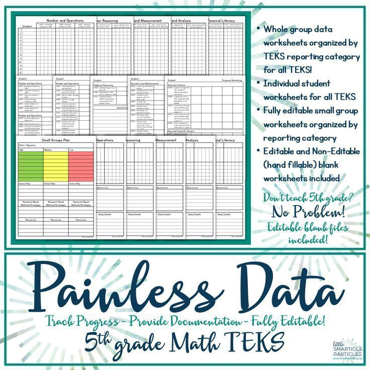 Data Tracking 5th Grade Math TEKS | Data tracking, Math and Worksheets