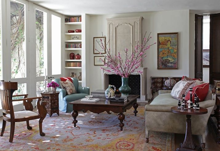 Martyn Lawrence Bullard in Blog 16 Fashionable Rooms with Orange Rugs and Coral Rugs