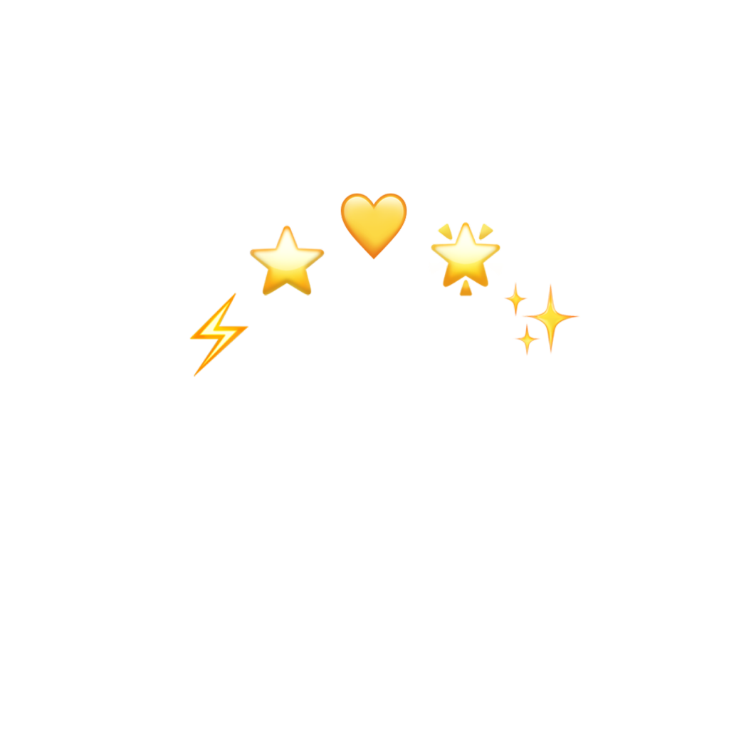 Crown Yellow Heart Star Lightning Emojis Freetoedit Remixit Aesthetic Stickers Transparent Stickers Iphone Wallpaper Yellow