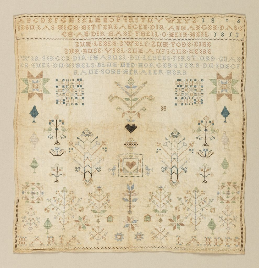 Sampler USA  Objects Collection Of Cooper Hewitt - German museums in usa
