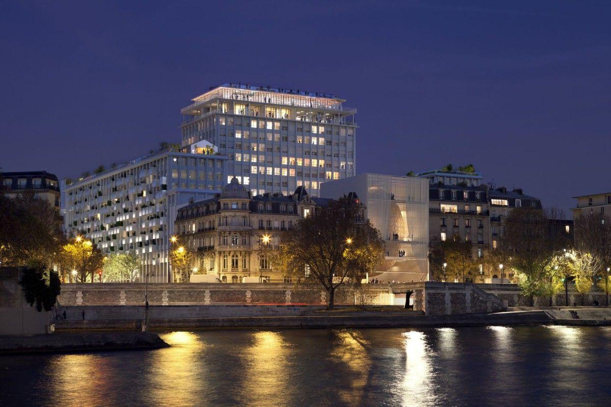 Shigeru Ban  .  Concert hall . Paris (2)