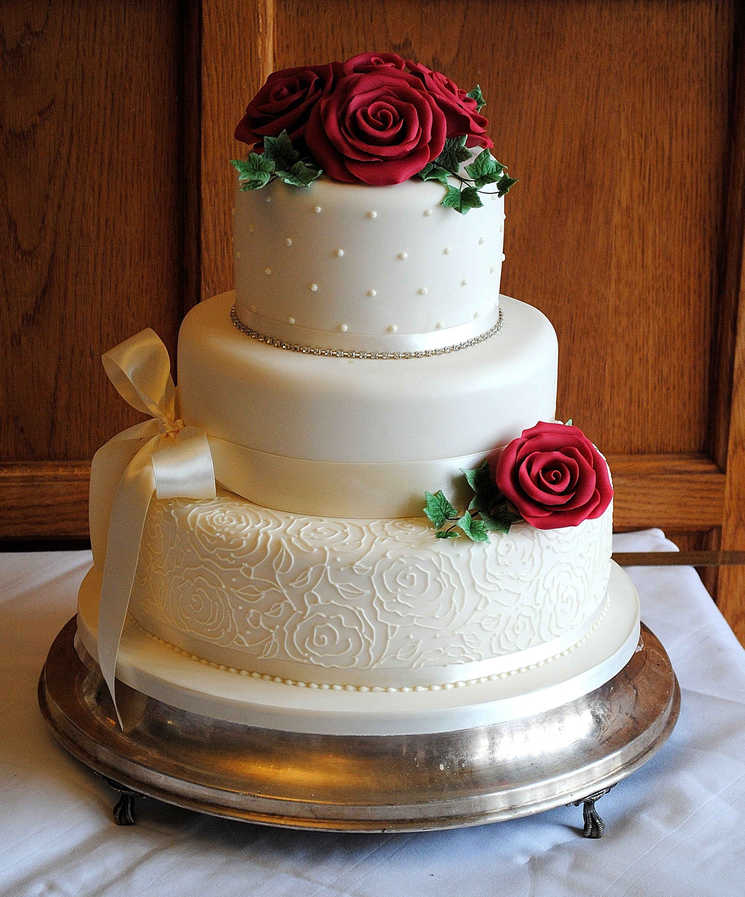 beautiful wedding cakes with roses 3 tier festive wedding cake with roses and by www 11232