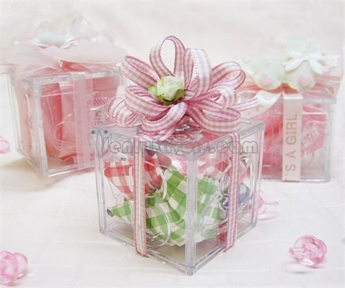 I Purchases Clear Plastic Cupcake Boxes, Added Ribbon On The Inside, And A  Bow. Baby Shower Party FavorsFavors ...