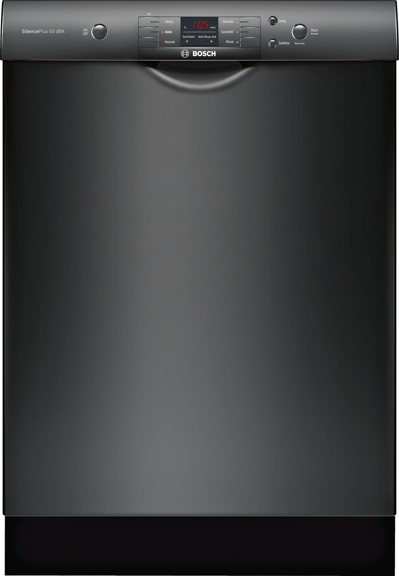 Bosch 100 Series Dishwasher Black Black Dishwasher Built In Dishwasher Dishwasher Installation