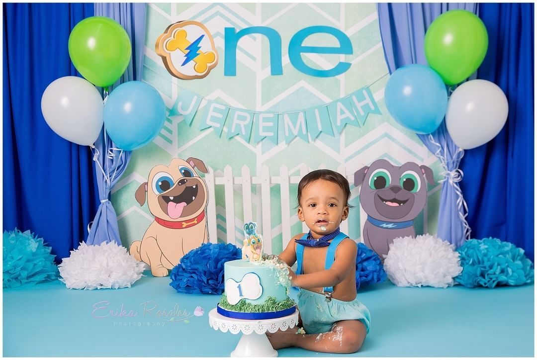 Happy Monday Baby J Is One Did You Check My Story Mail Arrive So Excited April I Puppy Birthday Parties Baby Boy 1st Birthday Party 1st Birthday Pictures