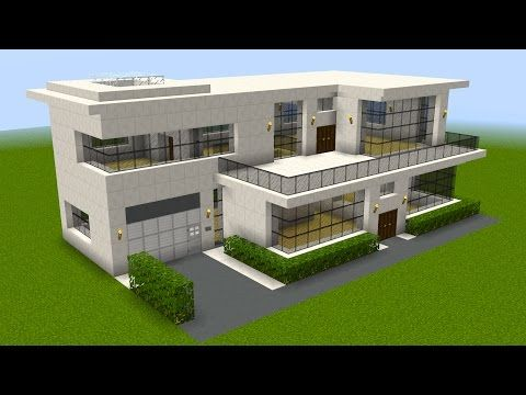 Minecraft How to build a huge modern house YouTube monecart