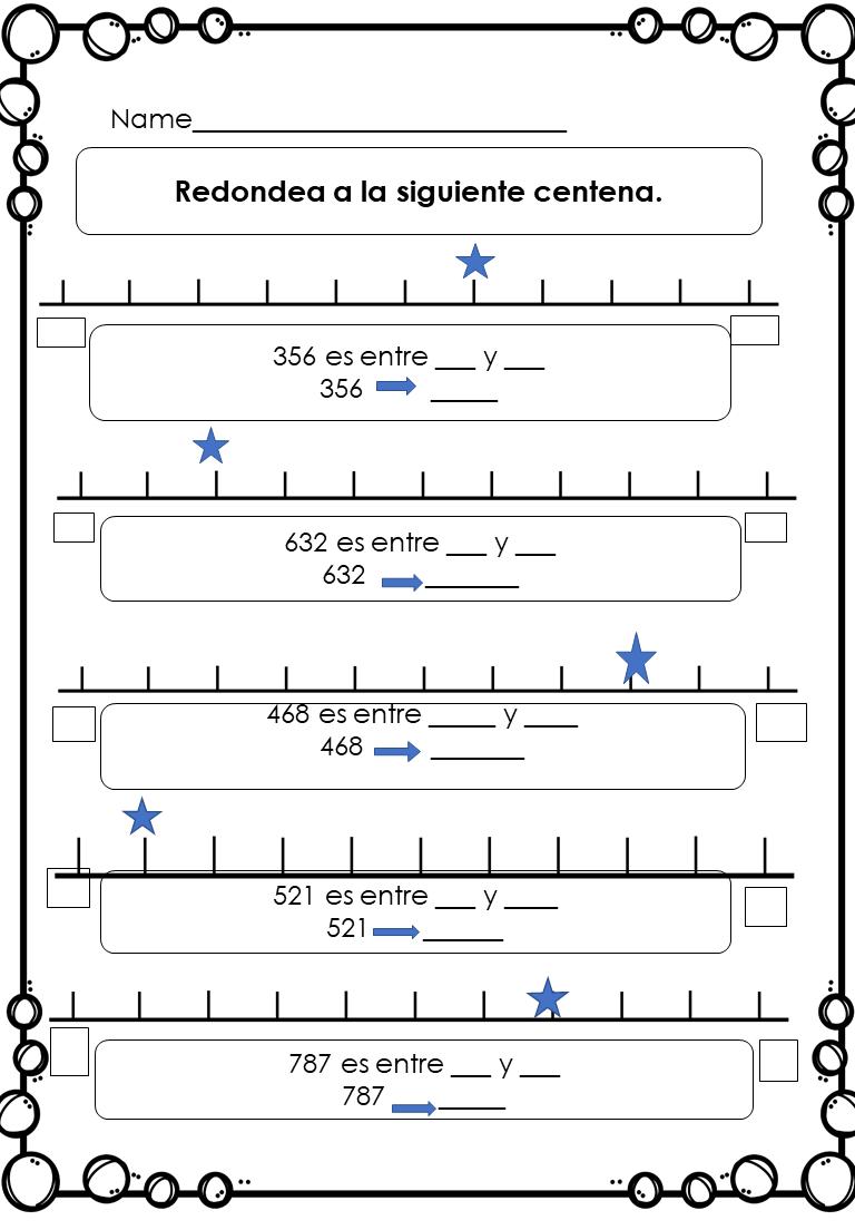 Pin By Rose M Martinez Menjivar On Education Bilingual Math Bilingual Worksheets Rounding Worksheets [ 1104 x 768 Pixel ]