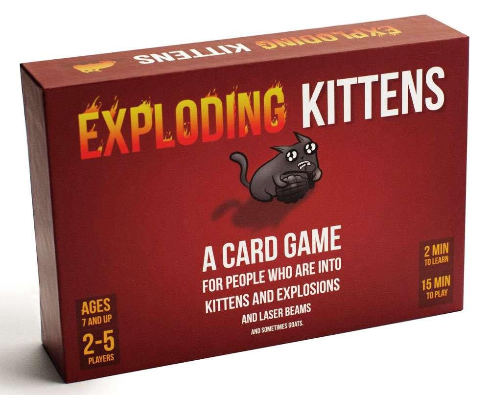 Exploding Kittens Original Edition Walmart Com In 2020 Exploding Kittens Card Game Exploding Kittens Fun Card Games