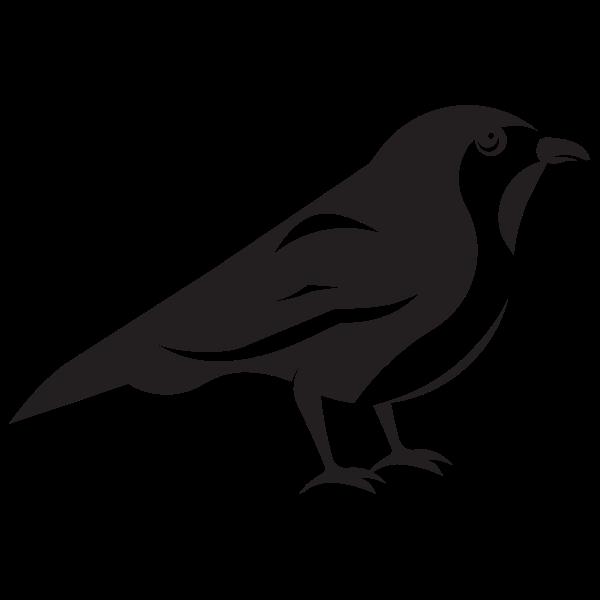 Download Sparrow bird silhouette in 2020   Bird silhouette ...
