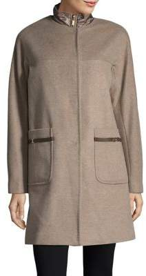 d47be991f27 Ellen Tracy Plus Wool Blend Topper Coat