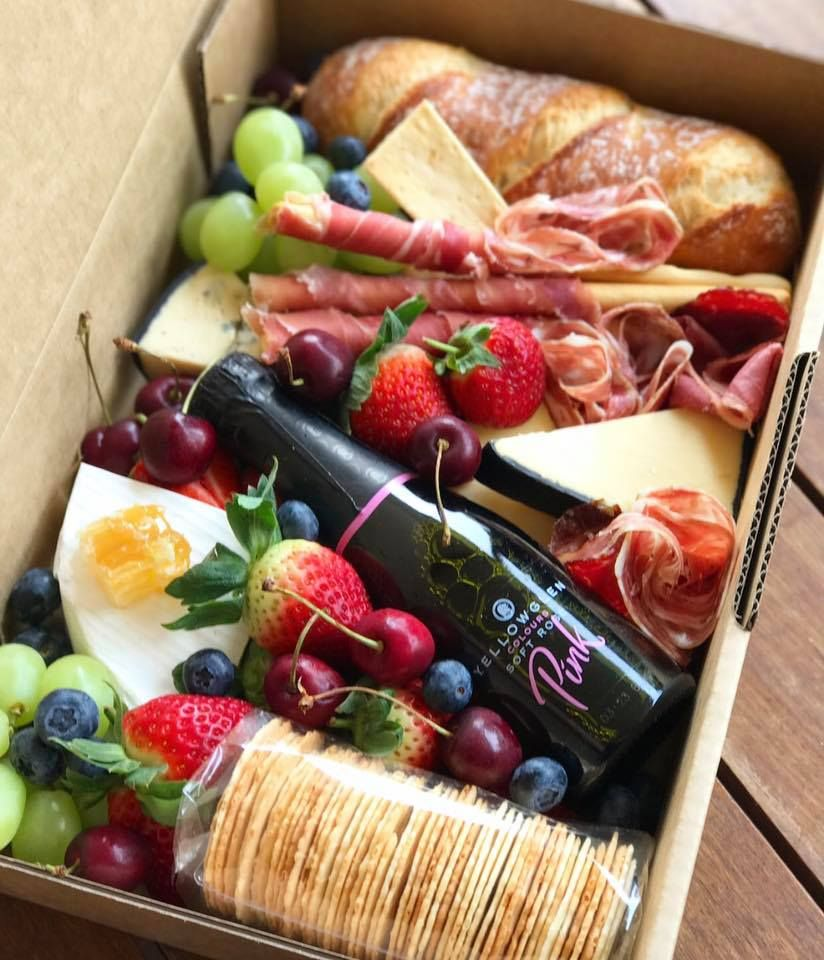 Graze Gourmet Platter Co Bubbles An Dbrie Grazing Box Gift Picnic Foods Picnic Food Grazing Food
