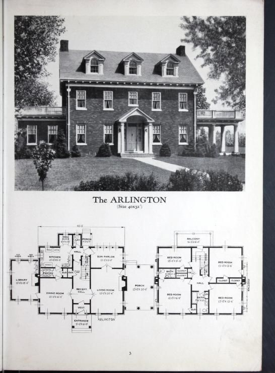 Homes Of Brick And Stucco Colonial House Plans Vintage House Plans How To Plan